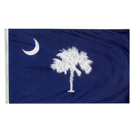 South Carolina State Nylon Outdoors Flag- Sizes 2' to 10' Length