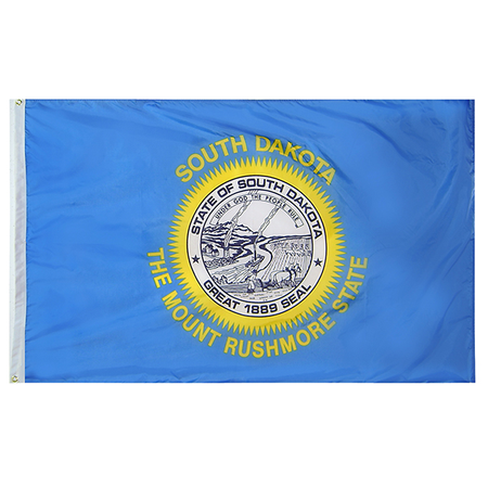 South Dakota State Nylon Outdoors Flag- Sizes 2' to 10' Length