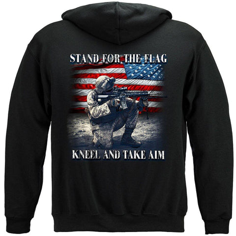 Stand For The Flag Kneel And Take Aim Premium Men's Hoodie