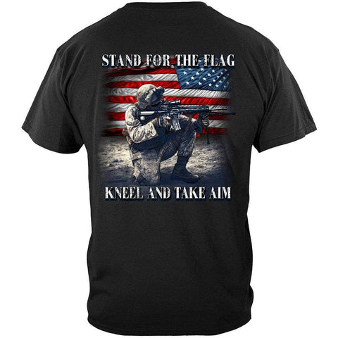 Stand For The Flag Kneel And Take Aim Premium Men's T-Shirt