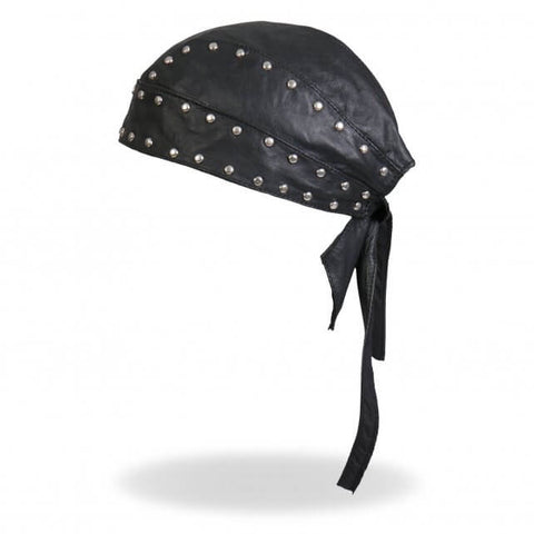 Studded Soft Leather Head Wrap