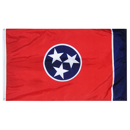 Tennessee State Nylon Outdoors Flag- Sizes 2' to 10' Length