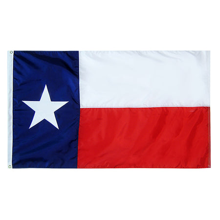 Texas State Nylon Outdoors Flag- Sizes 2'x3'/ 3'x5'/ 4'x6'/ 5'x8' /6'x10'