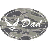"U.S. Air Force Symbol ""DAD"" on 5 3/4"" Oval Magnet"