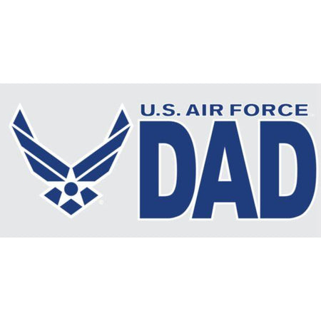 "U.S. Air Force Wings Logo ""DAD"" 3"" x 6.25"" Decal"