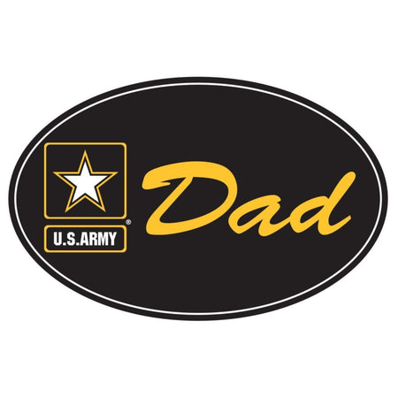 "U.S. Army Star ""DAD"" on 5 3/4"" Oval Magnet"