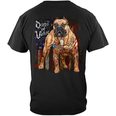 U.S. Dogs Of Valor American Made Pit Bull T-Shirt