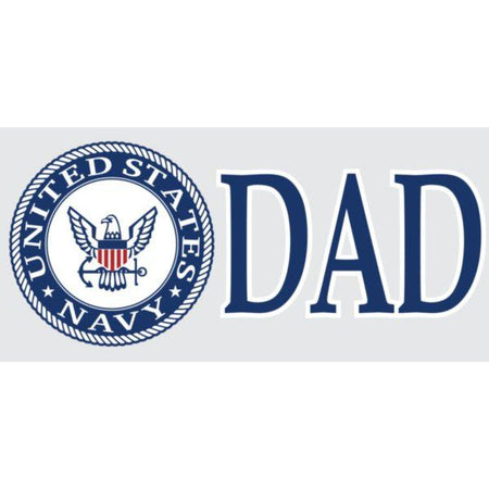 "U.S. Navy Crest ""DAD"" 3"" x 6.25"" Decal"
