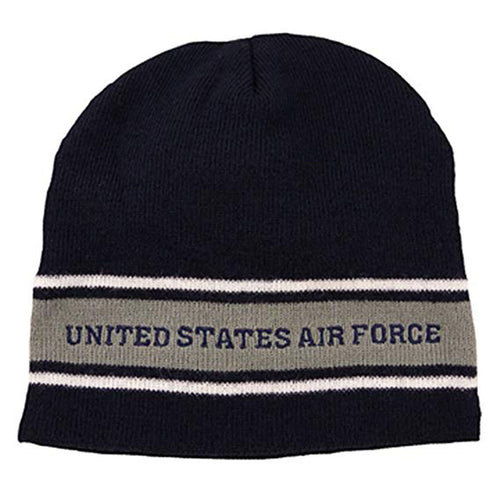 U.S. Air Force Knit Watch Cap Dark Navy with Grey Band