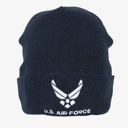 U.S. Air Force Knit Watch Cap Dark Navy with Logo
