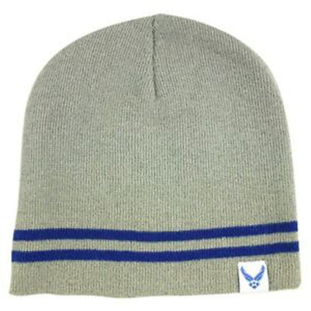 U.S. Air Force Watch Cap Grey with Blue Band