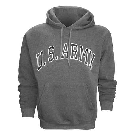 U.S. Army Embroidered Applique on Grey/Fleece Pullover Hoodie