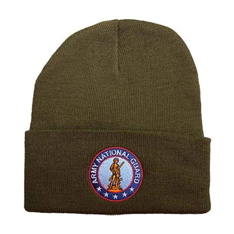 U.S. Army National Guard Knit Watch Cap with Logo - Brown