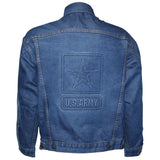 U.S. Army Star Embossed Logo on Denim Jacket