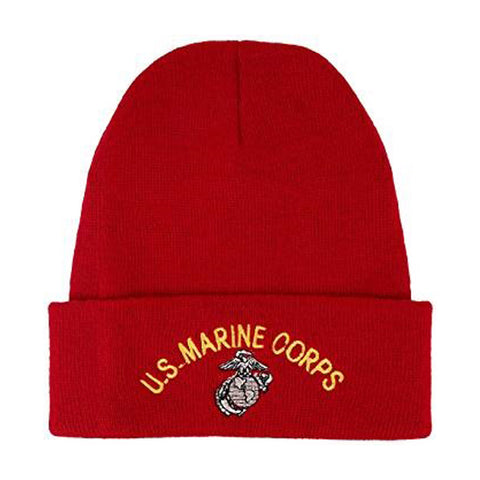 U.S. Marines Knit Watch Cap Red - Arched script