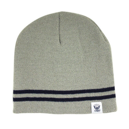 U.S. Navy Knit Watch Cap Grey with Blue Band