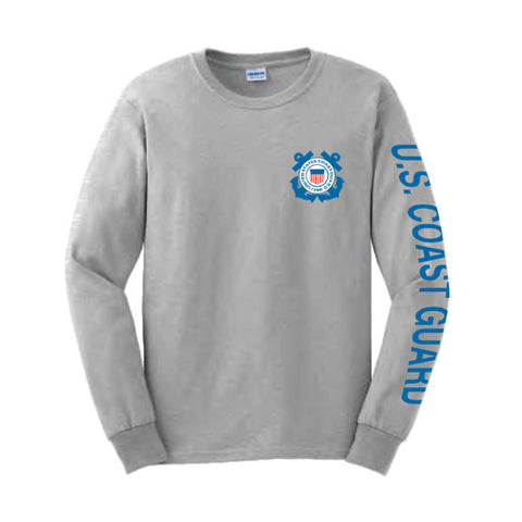 U.S. Coast Guard Sport Long Sleeve Shirt -Grey