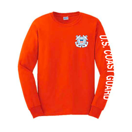 U.S. Coast Guard Sport Long Sleeve Shirt -Red