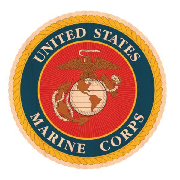 U.S. Marine Corps Wooden Sticker