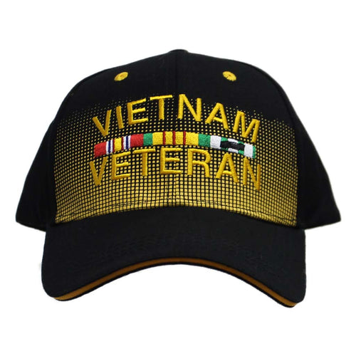 United States Vietnam Veteran Dotted Black Cap