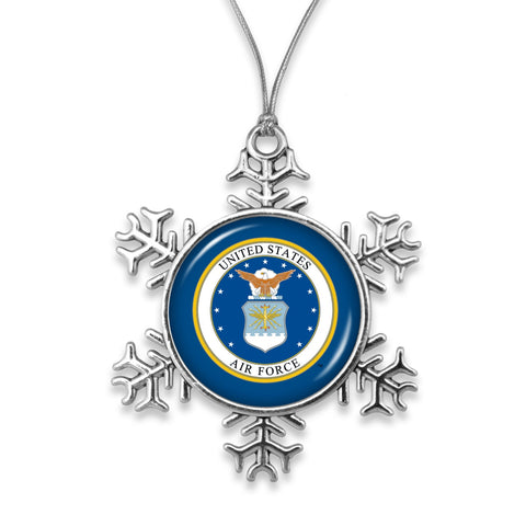 U.S. Air Force Snow Flake Ornament