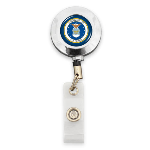U.S. Air Force® Badge Holder - Round with Wings Logo
