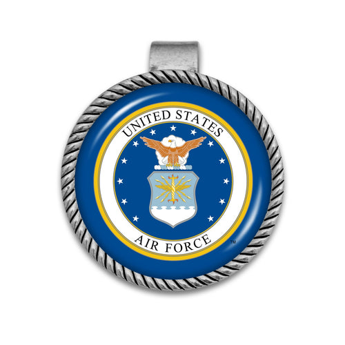 U.S. Air Force Visor Clip with Air Force Seal
