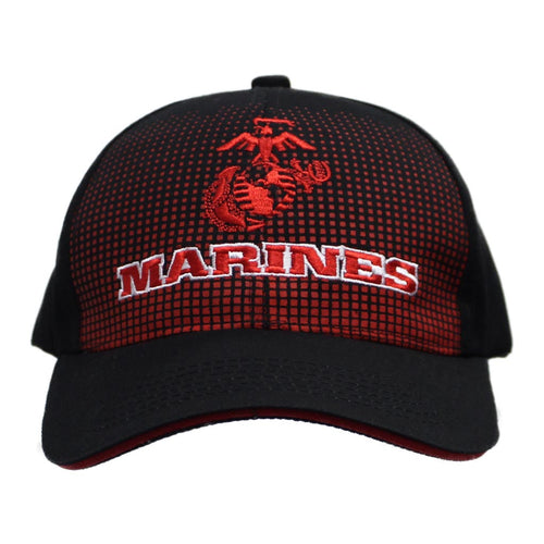 United States Marines Dotted Black Cap