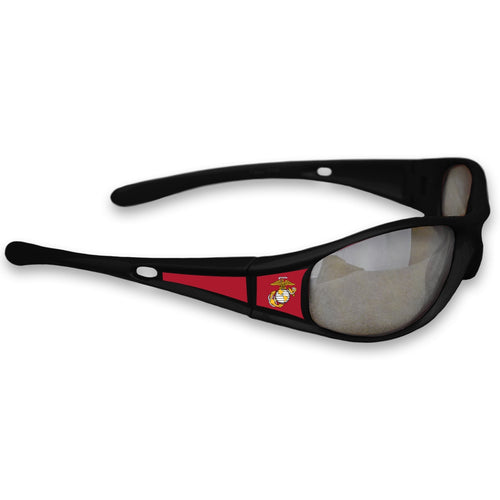 U.S. Marines Black Sports Rimmed Sunglasses