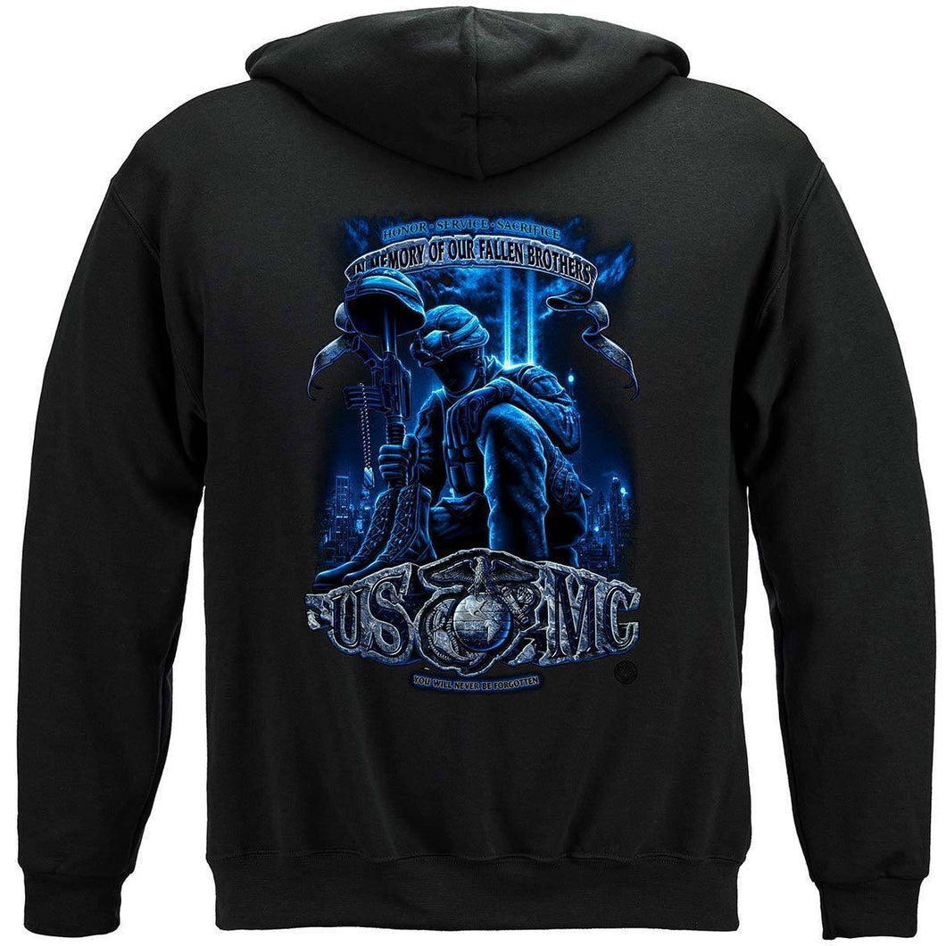 USMC In Memory Of Our Fallen Brothers Hoodie