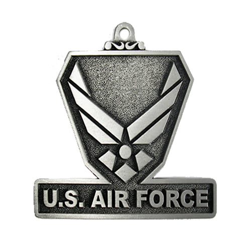 US Air Force Pewter Christmas Ornament