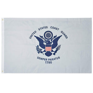 U.S. Coast Guard Nylon Outdoors Flag - Sizes 2'x3'/ 3'x5'/ 4'x6'/ 5'x8' /6'x10'