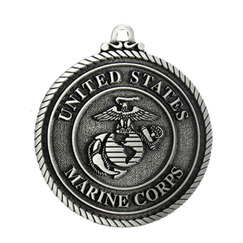 USMC Pewter Christmas Ornament