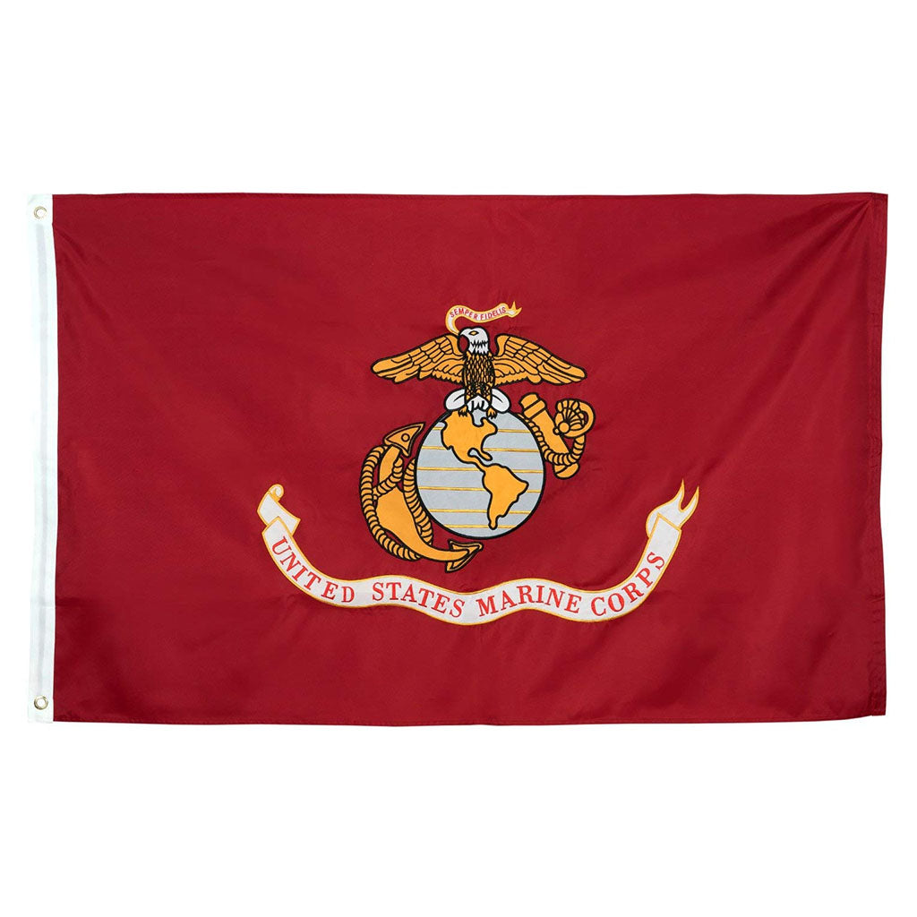 U.S. Marine Corps Nylon Outdoors Flag- Sizes 2'x3'/ 3'x5'/ 4'x6'/ 5'x8' /6'x10'