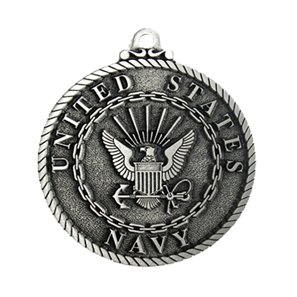 US Navy Pewter Christmas Ornament