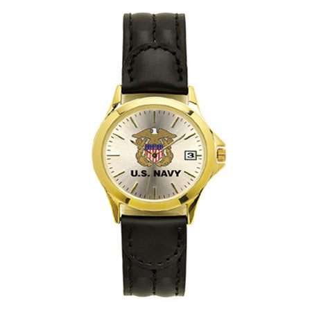US Navy Deluxe Ladies Leather Wrist Watch