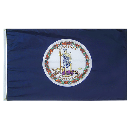 Virginia State Nylon Outdoors Flag- Sizes 2' to 10' Length