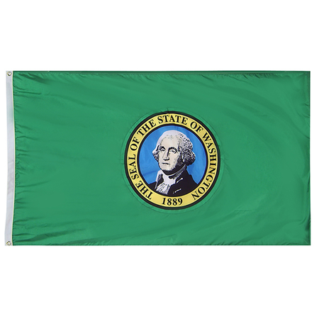 Washington State Nylon Outdoors Flag- Sizes 2' to 10' Length