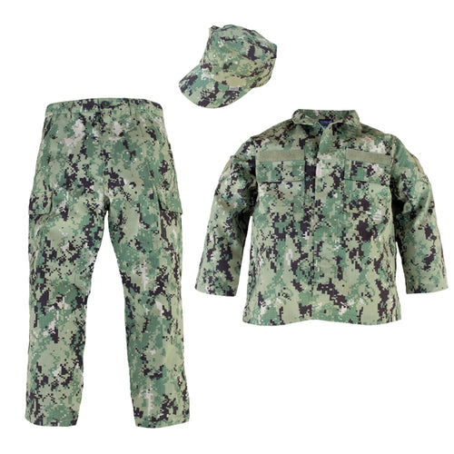 Youth/Kids Navy NWU III 3 Pc Set With Navy Nametape