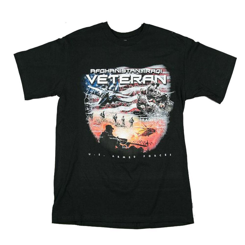 Afghanistan - Iraqi Veteran T-Shirt-Military Republic