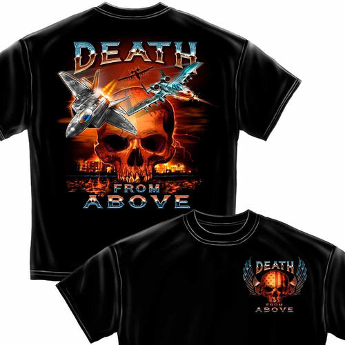 2nd Amendment Death from Above T Shirt-Military Republic