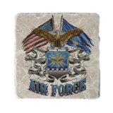 Air Force Double Flag Coaster-Military Republic