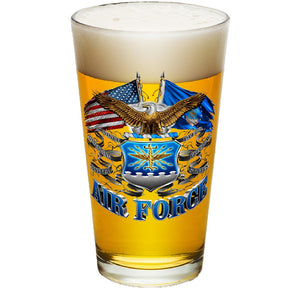 Air Force Double Flag Pint Glasses-Military Republic