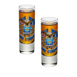 Air Force Double Flag Shot Glasses-Military Republic