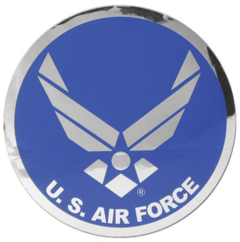 "Air Force Hap Arnold Wing Logo Large 12"" Chrome Decal"