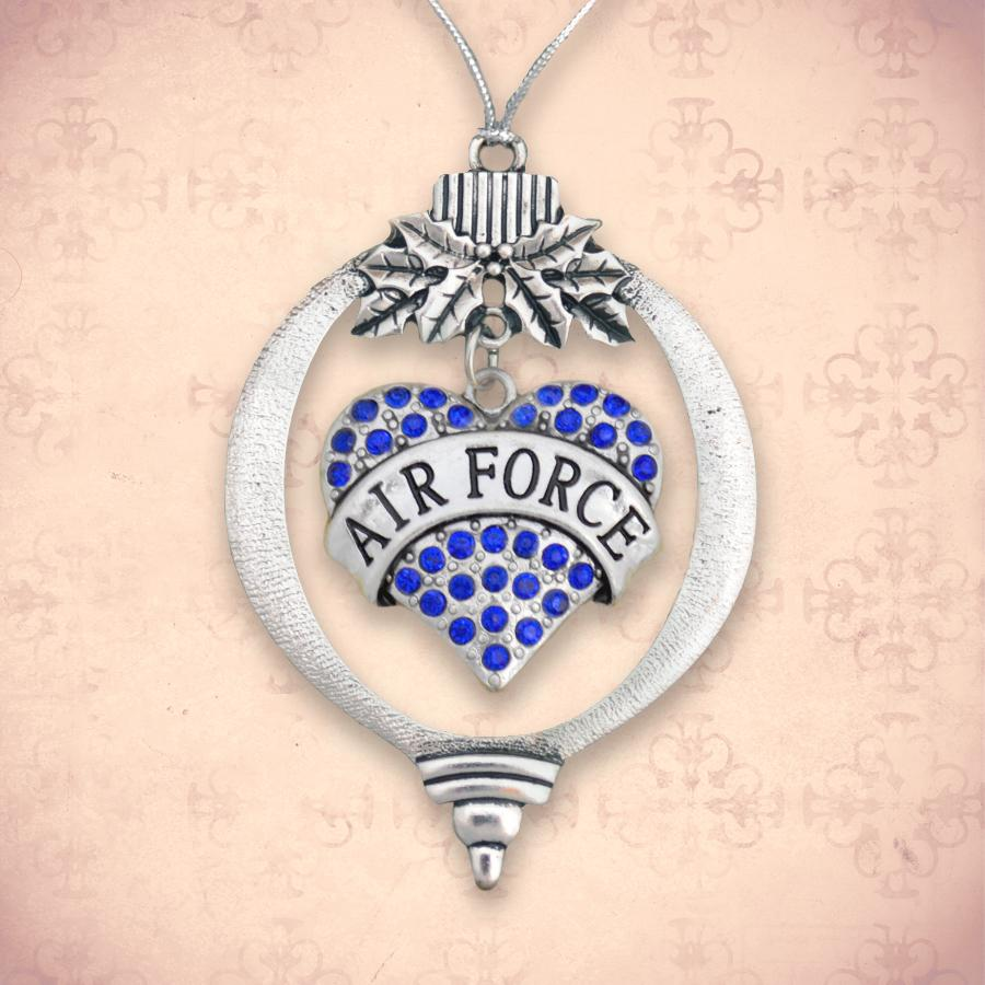 Air Force Heart Christmas Ornament