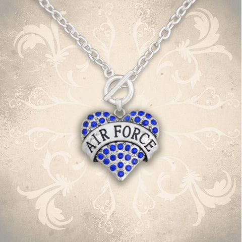 Air Force Heart Toggle Necklace-Military Republic