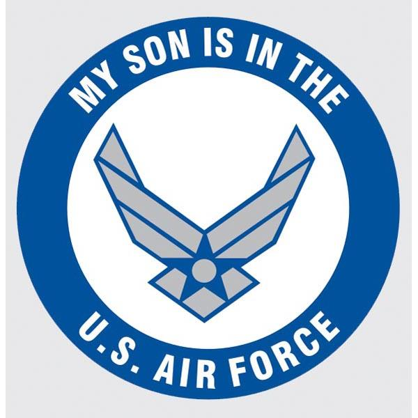 Air Force My Son is in the US Air Force 3.4 inch Decal