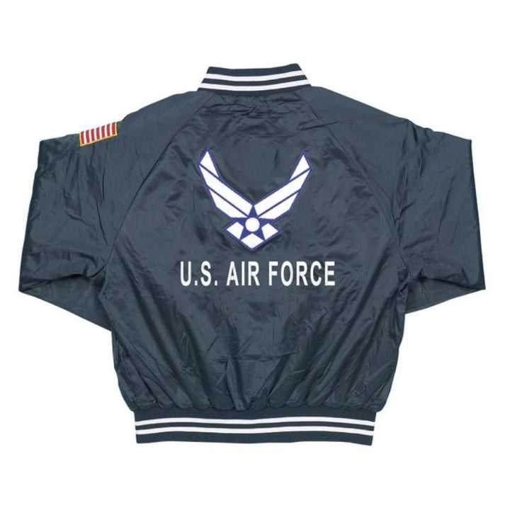 Air Force Satin Jacket - Blue