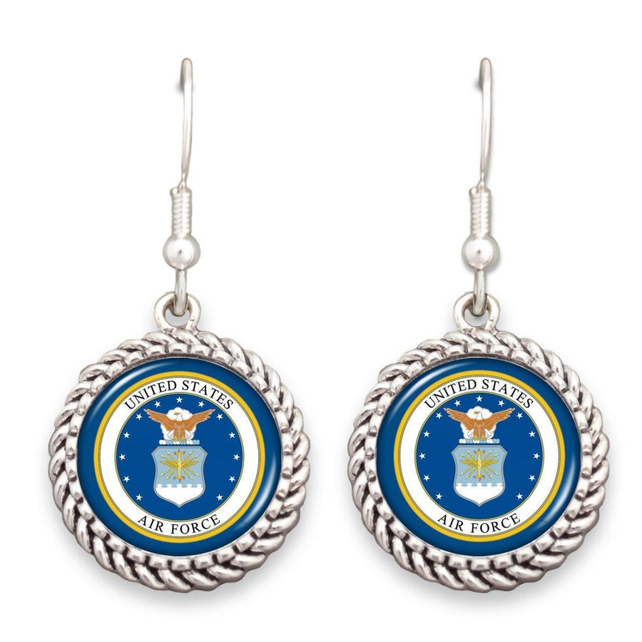 Air Force Seal Rope Edge Earrings-Military Republic